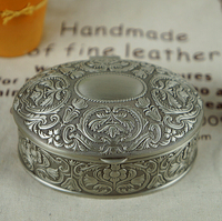 European Style Vintage Carving Oval Princes Jewelry Box Bride Wedding Valentine S Day Ring Gift Boxes