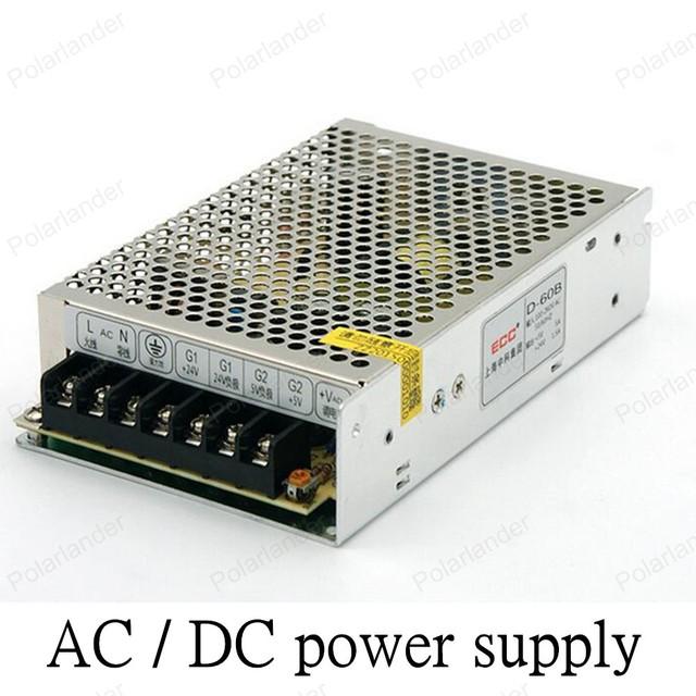 Adaptador AC LED/DC 12 V 60 W dupla saída fonte de alimentação Interruptor de Alimentação para LED Strip Luz comutação de Transformadores de Iluminação
