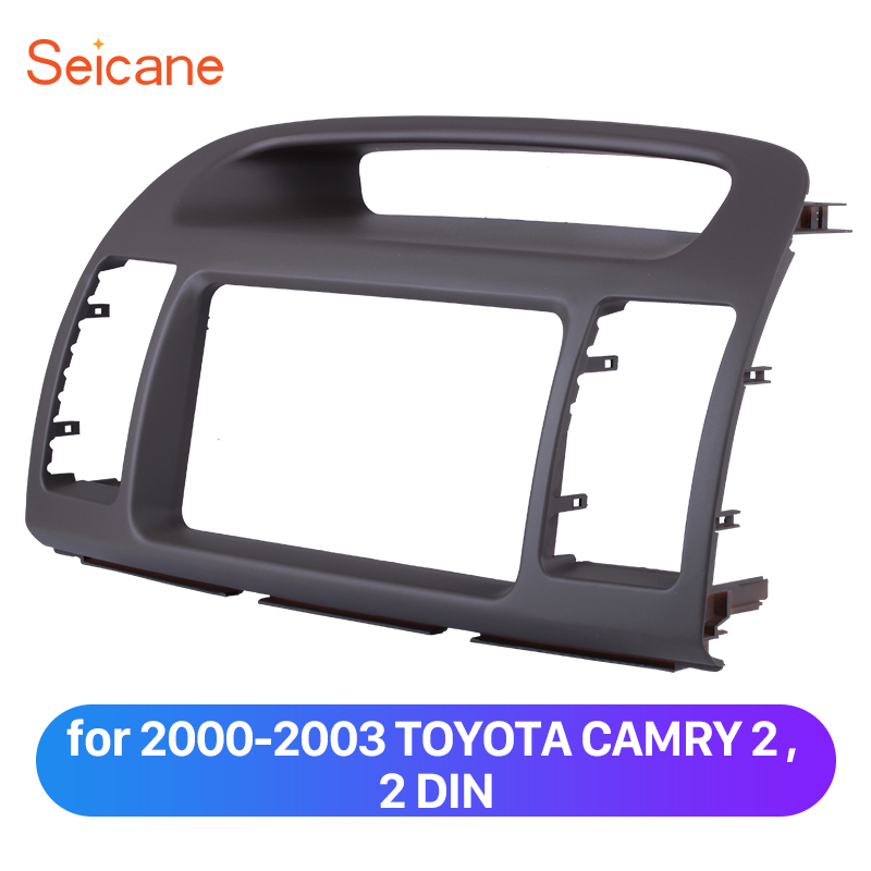 Seicane 2 Din Car Stereo Fascia Frame of Dashboard for 2000-2003 TOYOTA CAMRY Car DVD Player Sorrounded Refitting Panel Kit 2 din car refitting frame panel for jaguar s