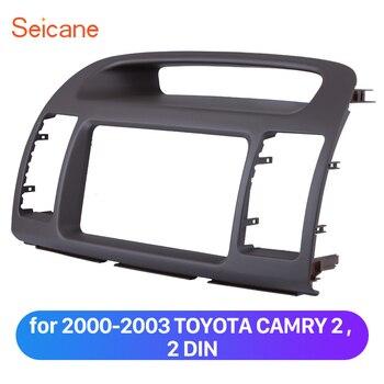 Seicane 2 dinカーステレオ筋膜フレームのダッシュボード用2000-2003トヨタカムリ車のdvdプレーヤーsorrounded再取り付けパネルキット