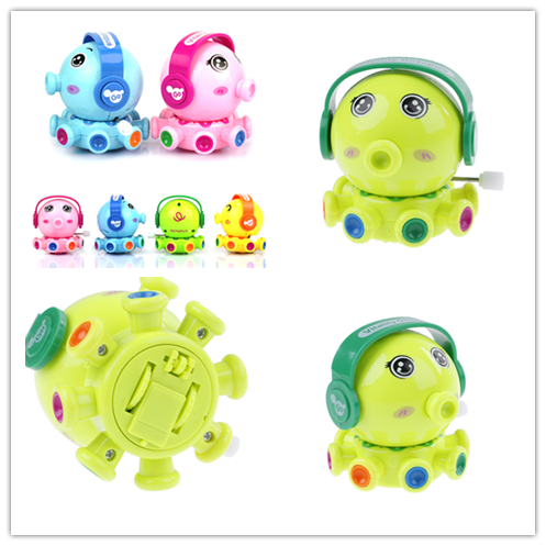 Cute Children Animal Octopus Wind Up Toys Rotation Educational Clockwork Toy for Baby Birthday Gift Random