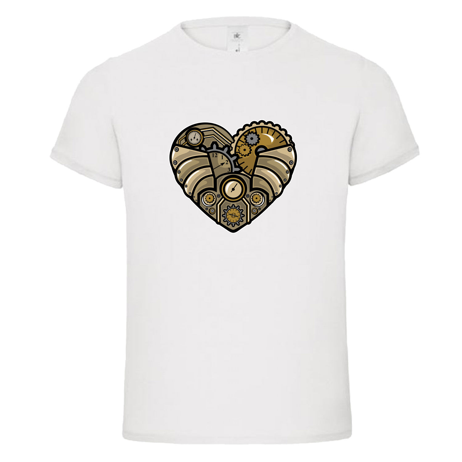 New T Shirts Funny Tops Tee New Unisex Funny TopsSTEAMPUNK HEART LOVE CLOCKWORK mashup dtg mens t shirt tees Summer Style in T Shirts from Men 39 s Clothing