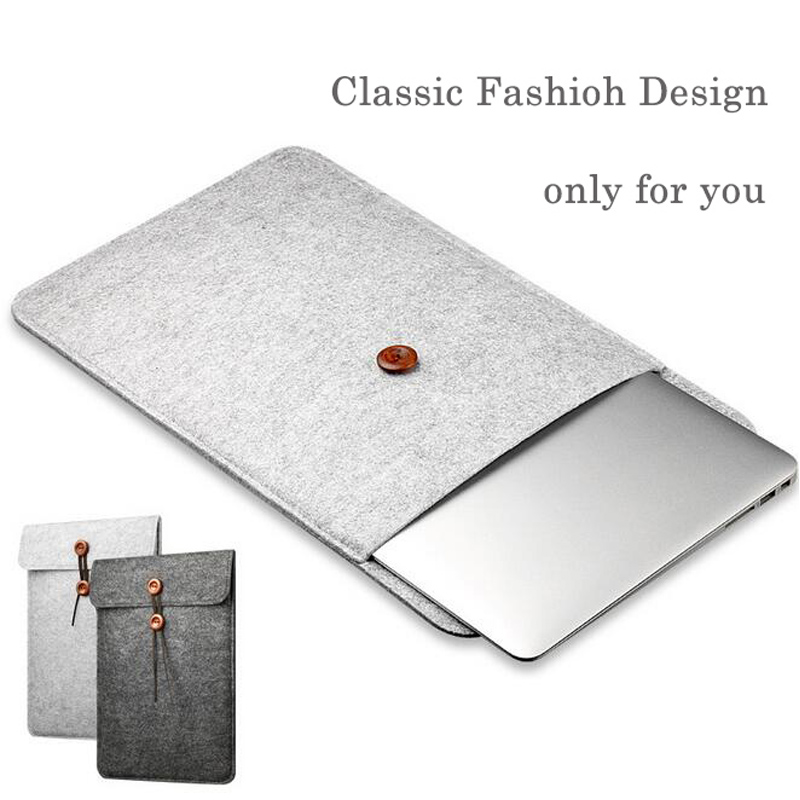 11 11.6 Portable Fashion Laptop Bag Pouch for Macbook air High Quality Wool Felt Fabric Liner Sleeve Tablet Case Feb16