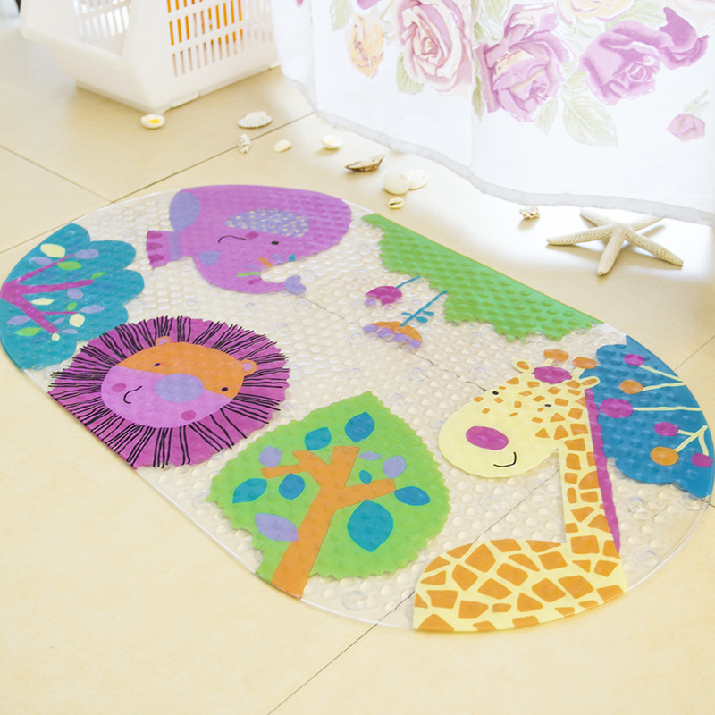 Zoos Bathroom Mat Sf-10 Carpet Anti Slip Cushion With Sucker Skid