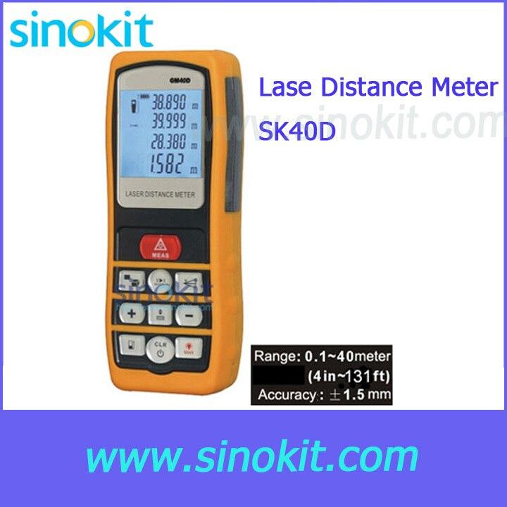 Measurement Range: 0.1m~40m (4 in ~131 ft) Lase Distance Meter SK40D boegli boegli m 40