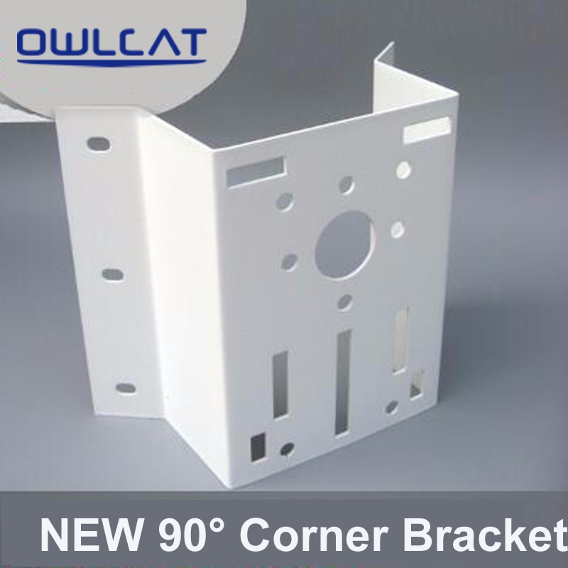 Outdoor/Indoor Right angle 90 degree External Corner Bracket Mounting For Security CCTV PTZ IP Dome Camera Max Load-bearing 30KG cctv bracket ds 1212zj indoor outdoor wall mount bracket suit for bullet camera s bracket ip camera bracket