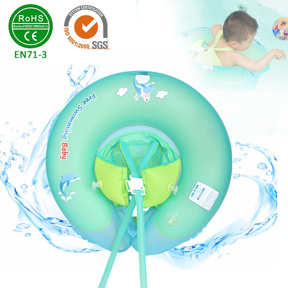 U Shaped Armpit Swimming Pool Toys for 2 to 6 Years Old Swimming Floaties Swim Ring Children Seat Boat Float With Inflator Plump