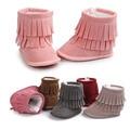 2017 Crianças Do Bebê Meninas Inverno Quente Botas Sapatos Recém-nascidos Prewalker Sapatos Da Criança Infantil Manter Aquecido Botas de Franja Botas Aquecimento Bebe