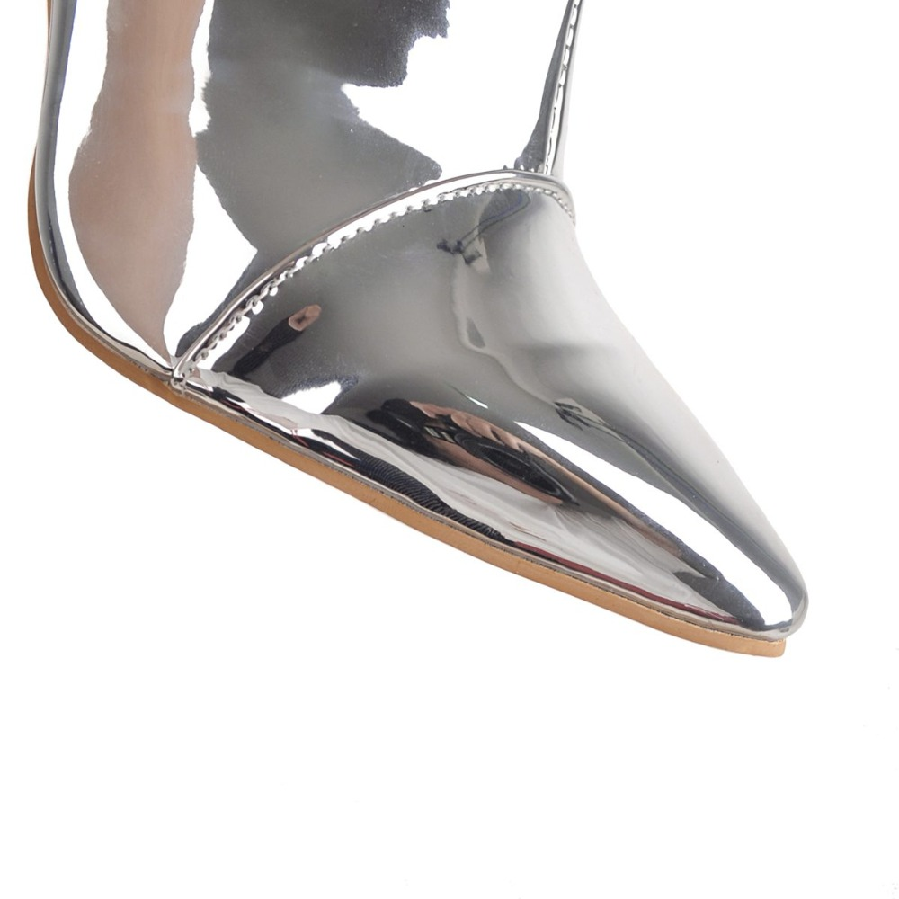 Mince Ef1531 Sur Pointu 16 Silver Haute Genou Nous Argent Bottes Hauts Mode Nouvelles Taille Initiale Femmes Femme 3 Le Talons Chaussures Bout De L'intention qXBP7wg4