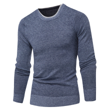 La MaxPa Mens Sweaters Autumn Winter Men Jumper Pure Cashmere Knitted Sweater O-neck Long Sleeve Warm Pullovers Male Clothes 3XL