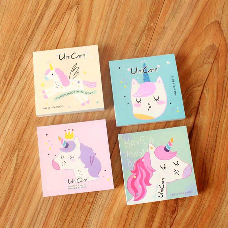 Memo Pads Notebooks & Writing Pads Lower Price with Cute Kawaii Cartoon Animal Finger Unicorn Memo Pad N Times Sticky Note Paper Korean Stationery Cat Planner Sticker School Office