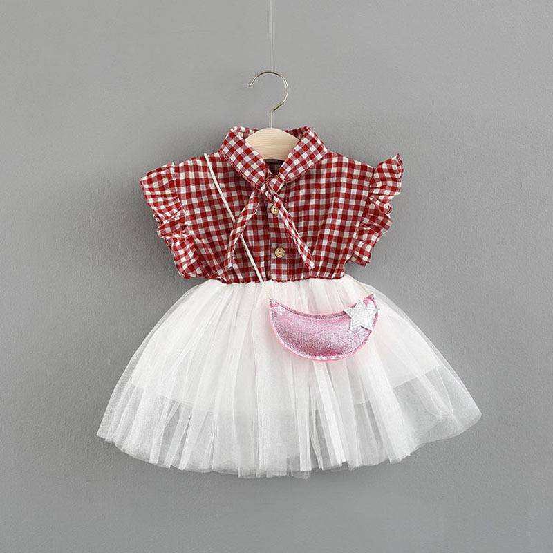 2018 Sale Limited Cotton Casual Baby Girl Dress Vestido Infantil Girls Dresses Summer 0-3 Baby Plaid Shirts Stitching Ocean