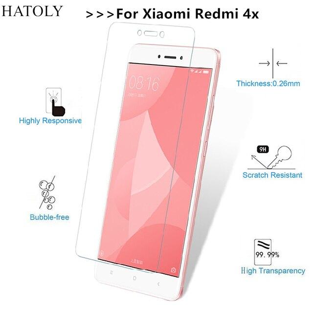 2 шт. закаленное Стекло СПС Xiaomi Redmi 4X ультра-тонкий Экран протектор для Xiaomi Redmi 4X Плёнки Xiaomi Redmi 4X Pro Стекло hatoly