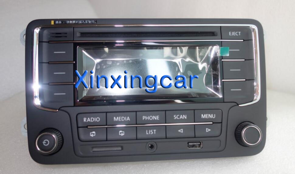 Car Radio Stereo CD Player RCN210 MP3 USB SD AUX For VW Passat B6 Golf 5 6 Jetta MK5 MK6 Tiguan WITH POWER PLUG
