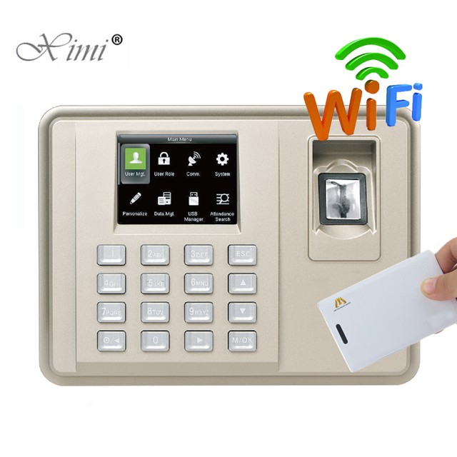 Biomtric Fingerprint And MF Card Time Attendance With WIFI ZK TX638
