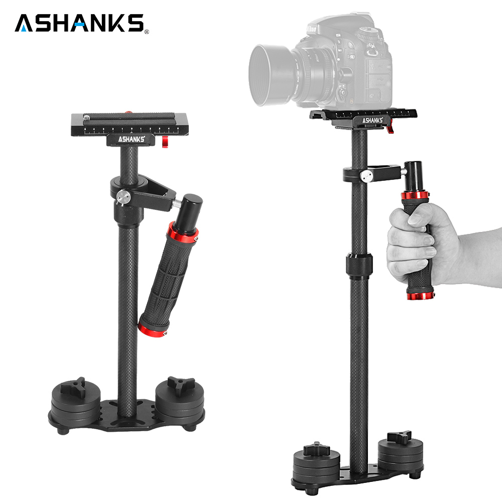 ASHANKS In Fibra di Carbonio 57 cm/22.4 ''Handheld Steadycam Stabilizzatore Per DSLR Steadicam Canon Sony Nikon GoPro AEE DSLR video Macchina Fotografica