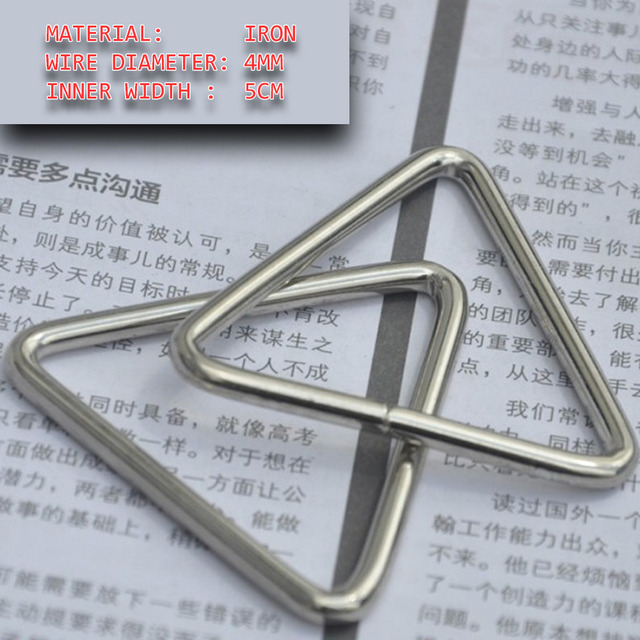 20pcs pack 2 inch Wire Made TRIANGULAR RING Nickel Plated Iron ...