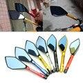 2x universal de la motocicleta espejos moto cnc de aluminio de visión trasera espejo lateral para honda suzuki yamaha kawasaki ducati ktm benelli