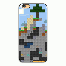 Unique Snap-on Hard Plastic Minecraft Pixel Cell Phone Case cover for iphone 4 4s 5 5s 5c 6 plus 7