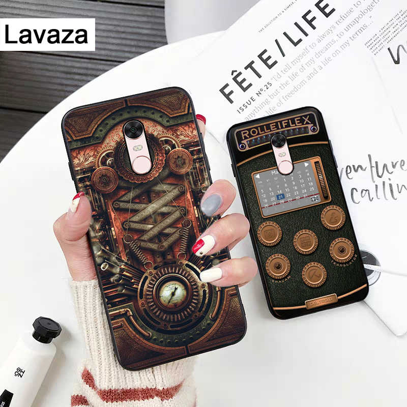 Lavaza Ретро Лента объем камеры силиконовый чехол для Xiaomi Redmi 4A 4X 5A 5 Plus S2 6 6A Note 4 7 Pro Prime Go