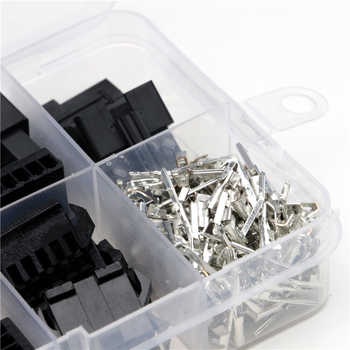 200PCS 2 54mm Dupont Terminal Male/Female Pin Way Cable Plug 2/3/4/5