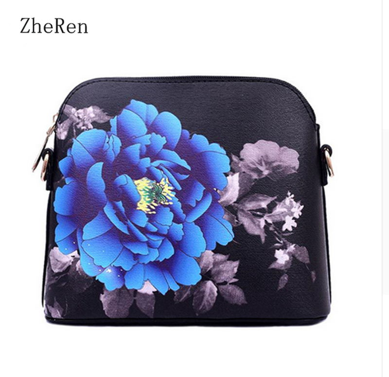 bag for women the Spring of 2017 New Handbag and Simple Printing Small Package PU Leather Black Shoulder Bag women bag