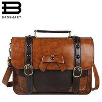 BAGSMART 2016 Casual Women Messenger Bags New Stylish Women PU Leather Bag Vintage Leather Handbag Girl