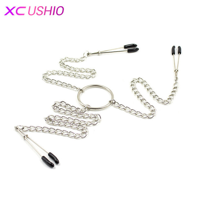 Metal Long Chain Nipple Clamps