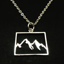 Mountain Range Colorado Stainless Steel Pendant Necklace Inspiration Mountaineer Hike Jewelry camp gift for her YLQ0675(China)