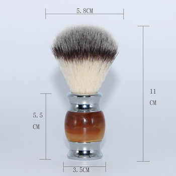 HAWARD Razor Men\'s Shaving Set Agate Set Includes Safety Razor + Nylon Shaving Brush + Stainless Steel Razor&Brush Stand