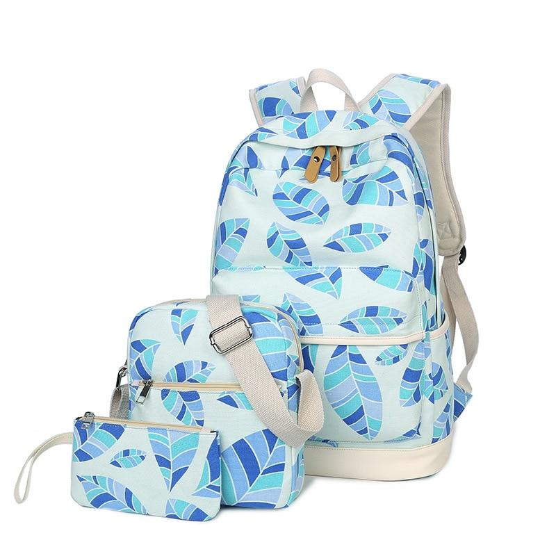 5 Arten 3 StÜcke Mädchen Schultaschen Kinder Tasche Leinwand Rucksack Frauen Rucksack Kinder Rucksäcke Blume Schulter Taschen Federmäppchen Angenehm Im Nachgeschmack