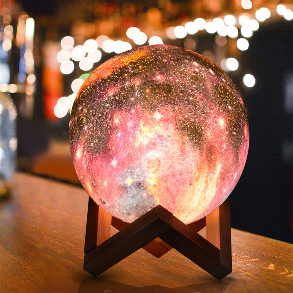 Moon Lights Children's Gifts Creative Table Lamps Painted Stars LED3D Night Lights Touch Seven Colors Home Decoration Drop Ship