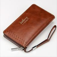 Leather goods 2016 new European and American men's wallet long zipper hand bag for foreign trade men's handbag wholesale
