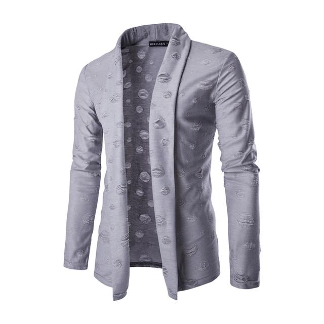 Novos Homens Chegada Camisola Design de Moda Padrão Listrado Manga Longa Cardigan Sweater Magro Revestimento da Camisola Ocasional dos homens