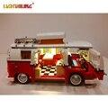 Luz led para arriba el kit para lego 10220 y lepin 21001 creador de la serie de la t1 camper van bloques ladrillos juguetes conjunto