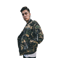 Japanese Men S Clothing Autumn Camouflage Military Style Badge Embroidered MA1 Bomber Jacket Male Baseball Coat