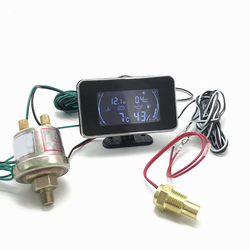 4w1 LCD samochód cyfrowy miernik ciśnienia oleju ciśnienie paliwa termometr do wody ciśnienie oleju wskaźnik paliwa miernik wielofunkcyjne części zamienne w Manometry olejowe od Samochody i motocykle na