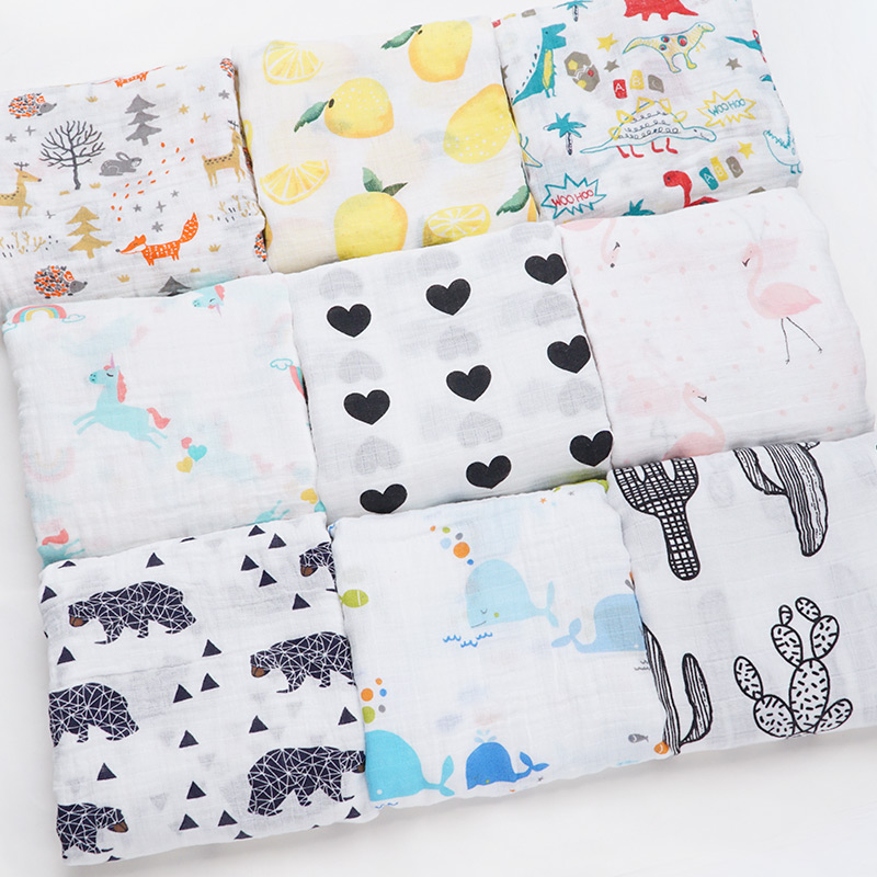 Baby Blankets Newborn Photography Props Muslin Swaddle Soft Big Diaper Baby Bath Towel Feeding Wrap Bebe Dropshipping Infantil