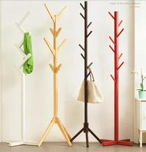 Solid wood cloakroom simple modern hanger