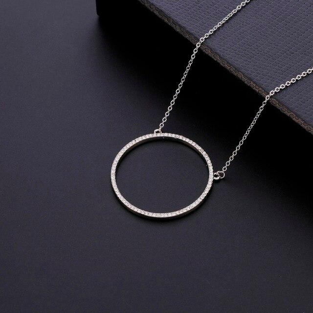 Стразы круглые ожерелья с подвеской для женщин модные ювелирные