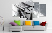 5 Piecessets Canvas Art Stormtrooper Star Wars HD Canvas Paintings 5 Panel Decoration For Home Wall