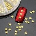 100 pçs/set 2015 Novo Shell 3d Etiqueta Da Arte Do Prego Decoração de unhas Pregos Liga de Prata do Metal do ouro Glitter Charme DIY Salão de Beleza Do Prego ferramentas