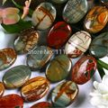 "Natural 13X18MM multi-colored Picasso Jasper Oval Loose Beads jewelry Stone Strand 15"" MY4300 Wholesale Price"