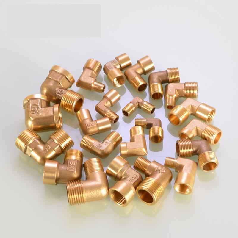 "Full Copper Elbow Right Angle 1/8 1/4 3/8"" Inch M9.5 M12.7 M16.5 Female Male Thread Water Pipe Fittings Pneumatic Connector"