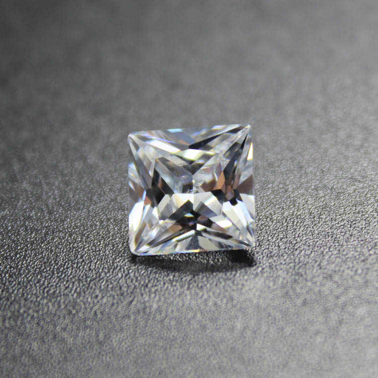princess cut square shape SQ cubic zirconia CZ stone beads for DIY jewelry making faceted loose stones Shiny
