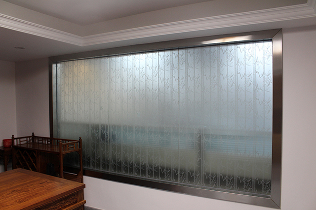PVC Stained Glass Film 5M Length Waterproof 60cm Frosted Privacy Home  Bedroom Bathroom Window Glass Film