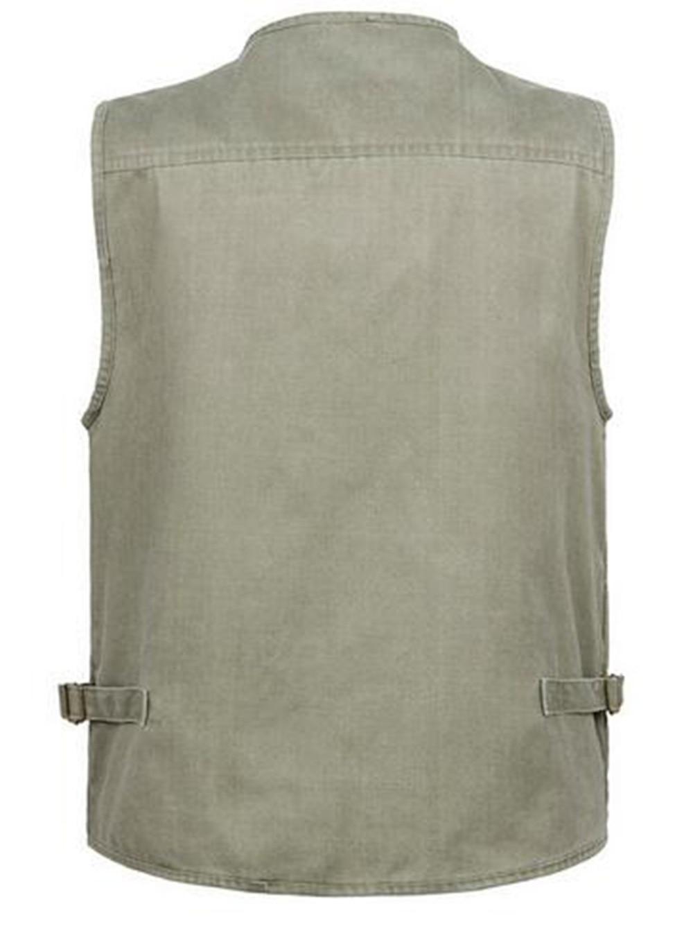 873e1c5eca4e4 Men s Denim Vest Jean Sleeveless Jacket Waistcoat Plus Size With Many  Pockets For Tactical Hunting Photography Fishing Vest
