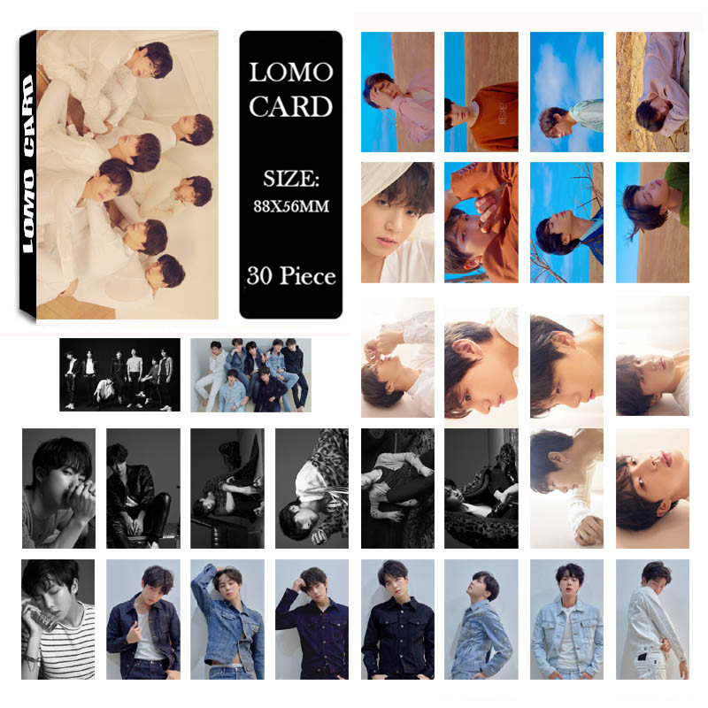 все цены на KPOP BTS Bangtan Boys LOVE YOURSELF Tear 2018 New Album LOMO Cards K-POP Self Made Paper Photo Card HD Photocard