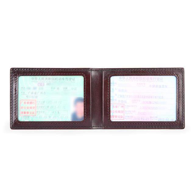 TERSE Men driver's license wallet cowhide leather 6 colors good quality wallet lettering luxury durable men card holder handmade