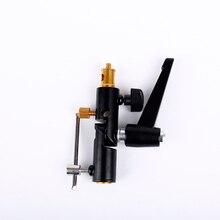 CY Zapata para Flash fijación con soporte para lámpara, soporte giratorio tipo H para paraguas, 1/4 soporte receptor de Flash, soporte de luz para fotografía